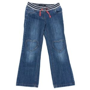 Mini boden jeans with heart knee patches